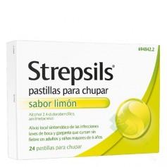 STREPSILS PASTILLAS PARA CHUPAR SABOR LIMON, 24 pastillas para chupar