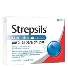 STREPSILS CON LIDOCAÍNA PASTILLAS PARA CHUPAR, 24 PASTILLAS