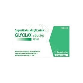 SUPOSITORIOS DE GLICERINA GLYCILAX ADULTOS, 12 SUPOSITORIOS