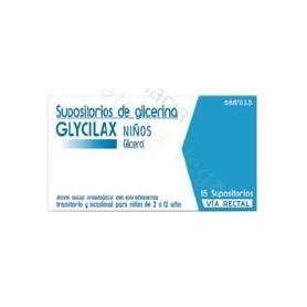SUPOSITORIOS DE GLICERINA GLYCILAX NIÑOS, 15 SUPOSITORIOS