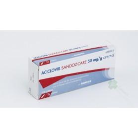ACICLOVIR SANDOZ 50 MG/G CREMA EFG , 1 tubo de 2 g