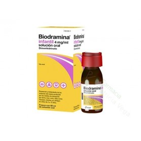 BIODRAMINA INFANTIL 4 MG/ML SOLUCIÓN ORAL 60 ML