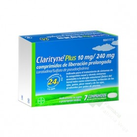 CLARITYNE PLUS 10 MG/240 MG 7 COMPRIMIDOS